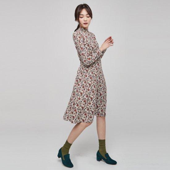 ナインNAINバックに広がることプリントのワンピースSOP3141 面ワンピース/ 韓国ファッション