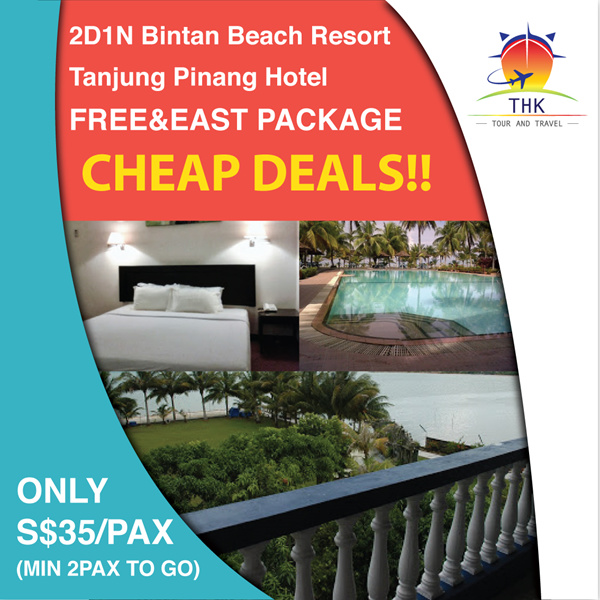 2D1N Bintan Beach Resort Tanjung Pinang Hotel FREE AND EASY PACKAGE(MIN 2PAXS) Deals for only S$100 instead of S$0