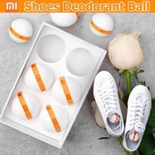 Original Xiaomi 6pcs Clean-n-Fresh Deodorant Shoe Balls Cleaner Rotary Switch Inhibit Fungus Deodora