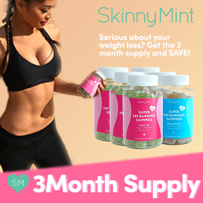 Skinnymint Skinnymint Official 3 Month Supply Super Fat Burning Gummies