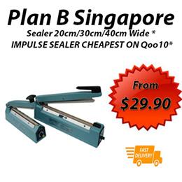 Sealer 20cm/30cm/40cm Wide *Metal / PVC IMPULSE SEALER  *Heavy duty Food Sealer* !FREE DELIVER