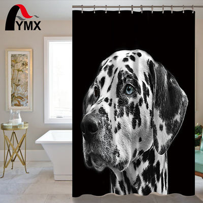 Waterproof Shower Curtain Bathroom Decor Animal Decorations Dog Cat Beetle Squirrel Pictures Polyest