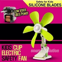Summer Wall Mounted Clip Desktop Electric Mini Fan Of Green Safety Energy-Saving Fans Plastic Blades