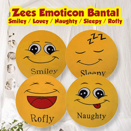 Zees Emoticon  Bantal / Smiley / Lovey / Naughty / Sleepy / Rofly