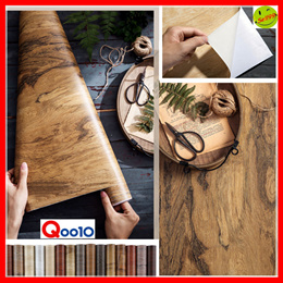 【Retro wood grain】🚩Self-adhesive PVC wallpaper ⭐ Water proof ⭐ Grease proofing ⭐ Wear-resisting