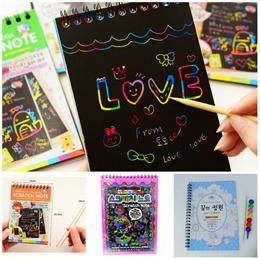 Scratch Note / Christmas / Gift / Fun / Colour / Notepad / Notebook / Art / Paper / Kid / Children