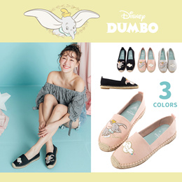Gracegift-Dumbo Embroidery Espadrilles/Women/Ladies/Girls Shoes/Taiwan Fashion