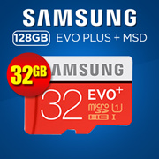 Samsung 32GB EVO Plus MicroSD Class 10 W Adapter (MB-MC32GA/APC) Local Warranty