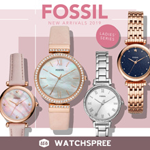 *APPLY SHOP COUPON* Fossil New Arrivals 2019 Leather and Stainless Steel Watches for Ladies!