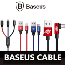Baseus 3 in1 Cable Apple Lightning Type-C Micro usb Fast Charging Cable Local Warranty