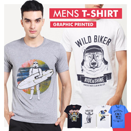 New Collection..!!! Man T-Shirt Graphic Printed/Mens T-Shirts/Men Graphic T-Shirts (Random Motif)