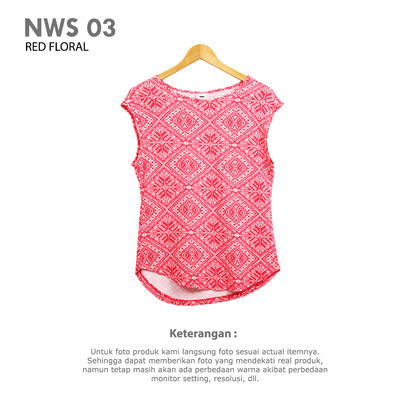 NWS 03 RED FLORAL