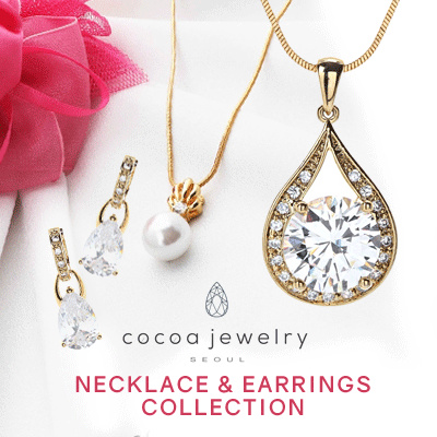 Cocoa Jewelry Necklace and Earrings Collection Deals for only Rp39.000 instead of Rp39.000