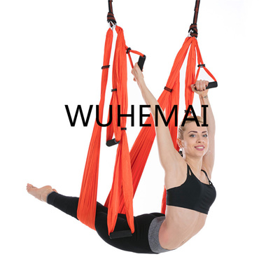 Hot Sale Parachute Fabric Swing Inversion Therapy Anti-gravity Aerial Yoga Hammock Fitness & Body Building
