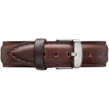 Daniel Wellington Bristol Silver Women s Brown Leather Buckle Watch Strap with Pin of 18cm 0811DW