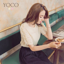 YOCO - Gathered Raglan Sleeve Top-6013242