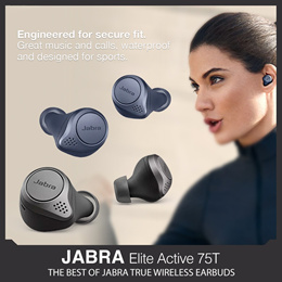 [Best Price with Local 2 Year Warranty] JABRA ELITE 75T ACTIVE - Best of Jabra True Wireless Earbuds