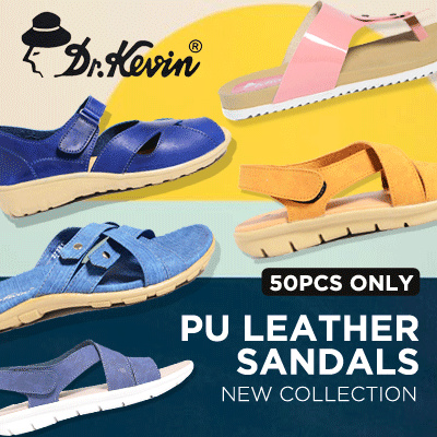 NEW ARRIVAL Dr.Kevin Women Flat Sandals PU Leather Deals for only Rp155.950 instead of Rp155.950
