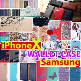 2018 Wallet Flip Cover leather PU case Collection for Samsung S9 S8 Note 8 S7 Edge iPhone X 8 7 6 P