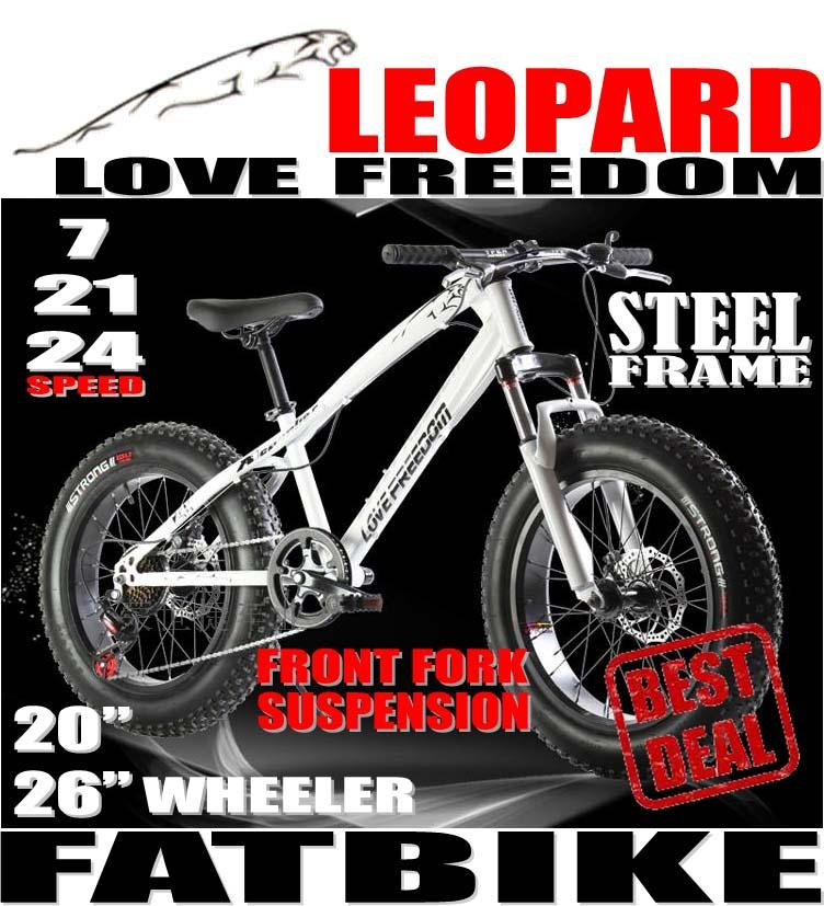 Qoo10 Leopard Love Freedom Fatbike Steel Frame Fat Bike With
