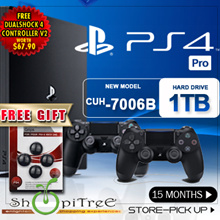 New PS4 1 TB Pro Console + 1 More Controller. Increased Power Intense Graphics.Faster, Smoother Stable Frame Rates. Free Thumb Grips. Local Stocks n Warranty!