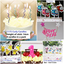 Latest candles! Cartoon candles/ number candles/ birthday party/Over 150 designs