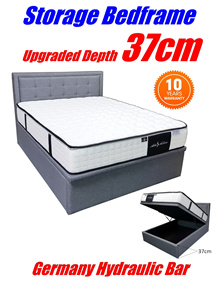 NEW VERSION UPGRADED DEPTH 37CM STORAGE BED / ADD ON MATTRESS /