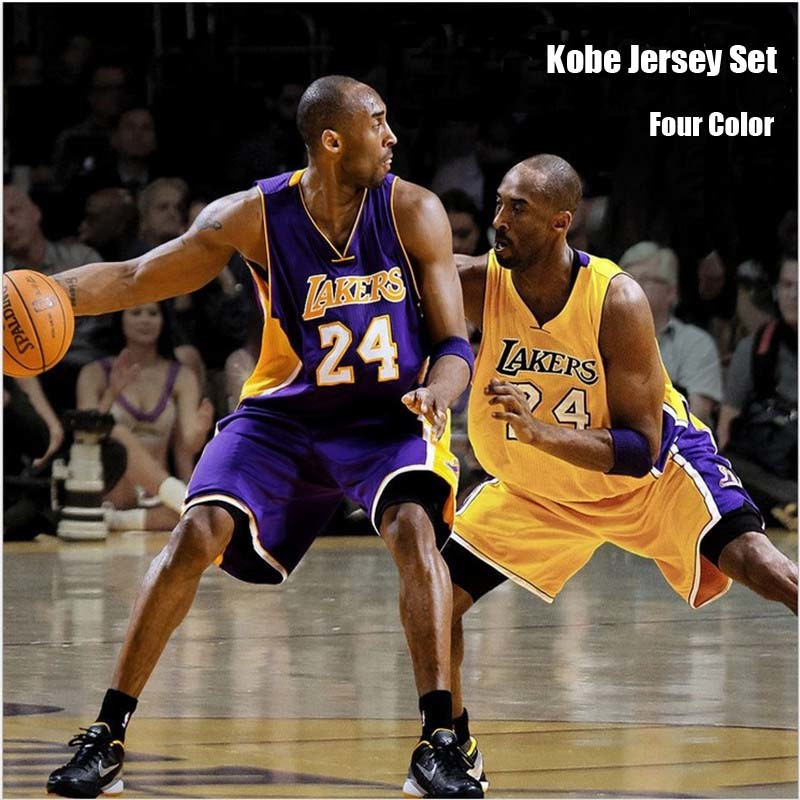 255246c4781 fit to viewer. prev next.  Four Color Cheap Mens Casual Los Angeles Lakers  24  Kobe Bryant ...