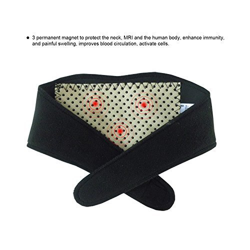 (Freehawk) Neck Guard with Adhesive Velcro,Tourmaline Nano Self-heating  Infrared Magnetic Therapy