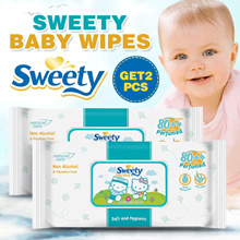 GET 2 PCS ◆ Sweety Baby wipes ◆ NO. 1 Wet Wipes in Indonesia ◆ soft hygienic non alcohol paraben free