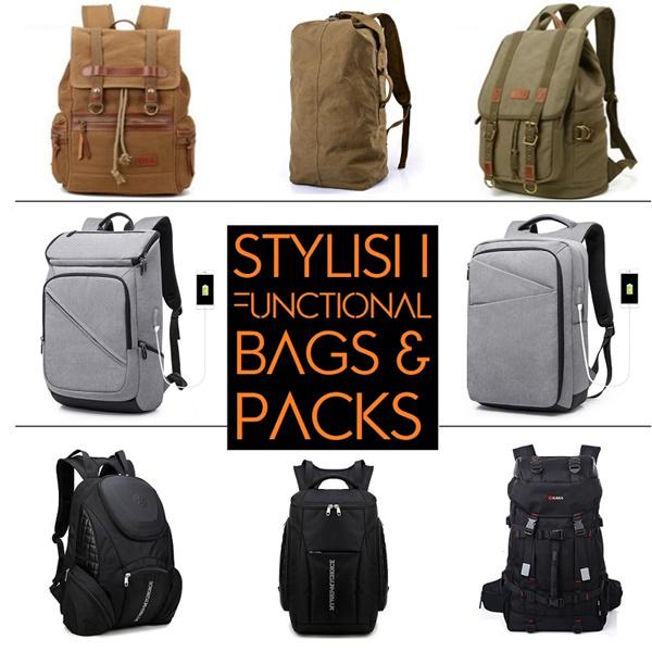 ?Backpack Sling bag?Mens messenger bag?Versatile?Durable?laptop bag?Ipad?Travel bag?Bag?Shoulder bag Deals for only S$128 instead of S$0