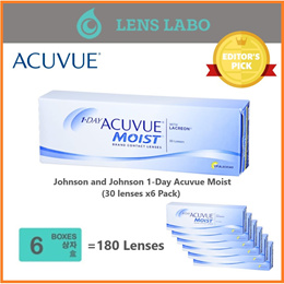 [Free Shipping] Johnson and Johnson 1-Day Acuvue Moist (30pcs/box) x6