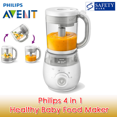 Philips Avent 4-in-1 Healthy Baby Food Maker / Baby Food Steamer /
