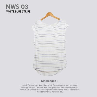 NWS 03 WHITE BLUE STRIPE