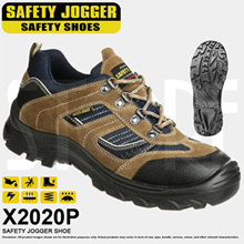 Safety Jogger X2020P Safety Shoe Black/Brown/Navy *FREE SHIPPING BY QXPRESS*