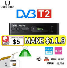 *Local Warranty* UKOBOX DVB-T2 Digital TV Receiver full compatible with DVB-T/H.264/TV Tuner/Youtube