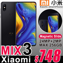 2018 Newest Xiaomi Mix3 6.39inch Samsung AMOLED Screen Front 24MP Sony Camera Max 10GB RAM Mi Mix 3