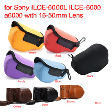 Neoprene Soft Camera Protective Case Bag Pouch for Sony ILCE-6000L ILCE-6000 a6000 with 16-50mm Lens