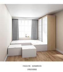 Bedroom custom overall storage bed bedroom floor bed tatami bed Rubiks cube storage