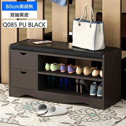 【Wooden Shoes Rack Bench】80CM Convenient Seat Wearing Taking off Shoes Strong Durable Organizer
