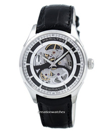 [CreationWatches] Hamilton Jazzmaster Viewmatic Skeleton Automatic H42555751 Mens Watch