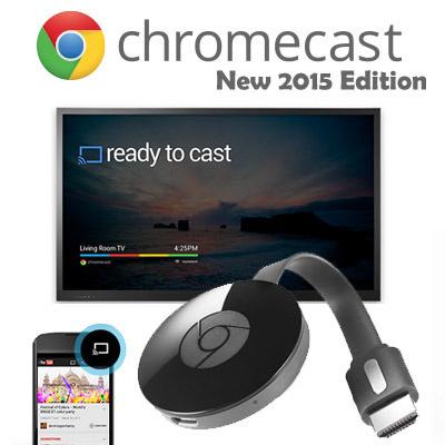 NEW GOOGLE CHROMECAST 2 / GOOGLE CHROMECAST 2015 / Google Authentic CHROMECAST /HDMI MEDIA STREAMER