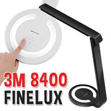 3M FINELUX LED Stand 8400 / 3M 8400 Desk LED Stand Lamp / Desk Light / 5 Levels Brightness / Polarized Light Filtering Panel