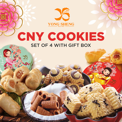 CNY Cookies [Set Of 4 With Gift Box]