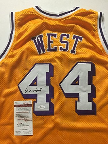53e84a9c3 Autographed Signed Jerry West Los Angeles LA Lakers Yellow Basketball Jersey  JSA COA