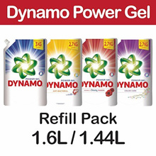 [[Carton Sales]] Dynamo Liquid Detergent Pouch 1.44kg/1.6kg **6 packet in carton