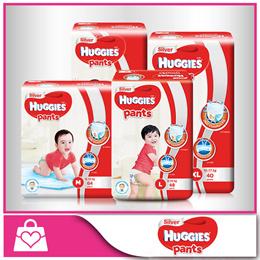 [Use Coupon For Discount] HUGGIES★CARTON SALE★ Silver Diaper Pants M/L/XL/XXL