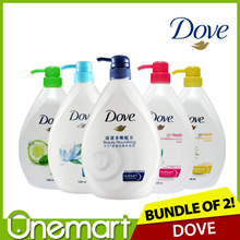 [DOVE] ★ 2 x 1000ml ★ Body Wash Bundle ► Cool/Energize/Revive/Fresh Touch/Beauty Nourishing