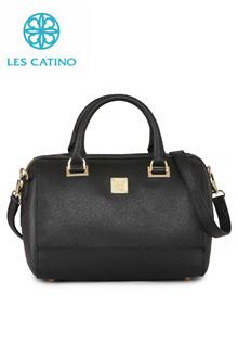 Les Catino Tas Wanita Motte Boston Black EBM21802009000