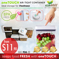 [$11.90 PROMO!! | ecoWARE oneTOUCH Airtight Container | BPA free | Milk | Powder |